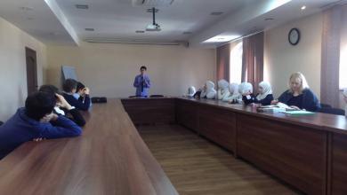 Молодой писатель Бекир Аблаев встретился с гимназистами из «Нашего Будущего»