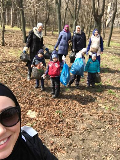 Мусульманки на «Большом одесском субботнике»