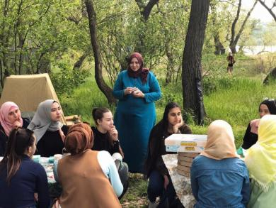 Мусульманки устроили пикник на Хортице