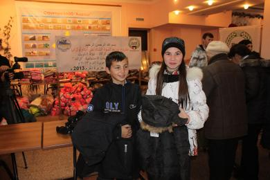 الرائد يضمن الدفء لـ1300 يتيم مسلم في القرم جنوب أوكرانيا (صور)