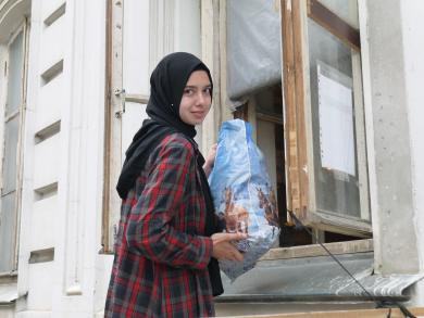 """Pupils of Gymnasium """"Our Future"""" Collected Aid For Resettled Children"""