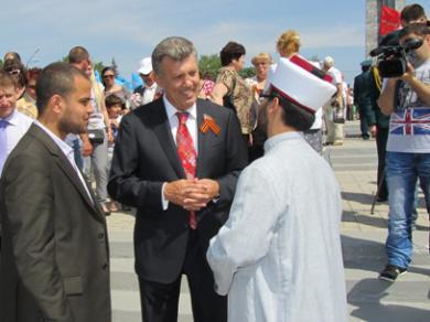 Мусульмане Одессы на праздновании 67 годовщины Победы над фашизмом