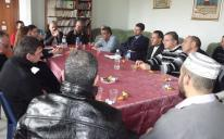 Members of the U.N. High Commissioner for Refugees and Muslim Communities of Kharkov investigate problems faced by foreigners