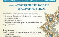 III Международная школа исламоведения принимает заявки на участие: количество мест ограничено!