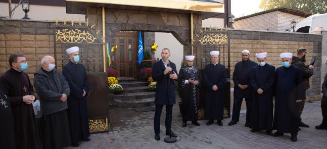Глава «Альраида» выступил на открытии мечети в Запорожье