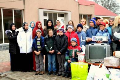 """""""مريم"""" و""""المسار"""" في زيارات لدور الأطفال اليتامى والعمي بكييف وأوديسا"""