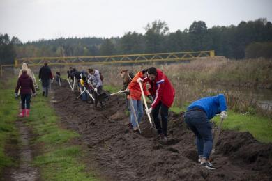 Акция «Миллион деревьев» продолжается: мусульмане вместе с другими активистами высаживали деревья на берегах реки Здвиж