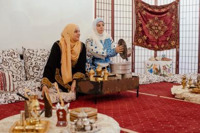 несколько сот киевлянок посетили День арабской культуры