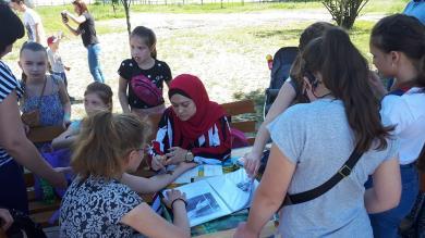 Сумские мусульманки поддержали мероприятие для детей с нарушениями слуха