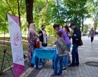 """I love Mary, mother of Jesus, because I am a Muslimah"" — an awareness campaign in Mariinsky park"