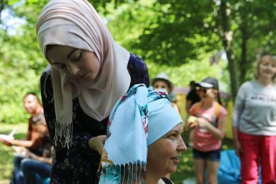 Винницкие мусульманки приняли участие в пикнике для тех, кто преодолевает онкологию