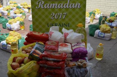 харчові набори для бідних у місяць Рамадан
