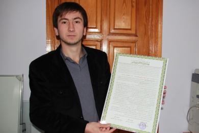 أول مسلم أوكراني يحصل على إجازة في القرآن الكريم