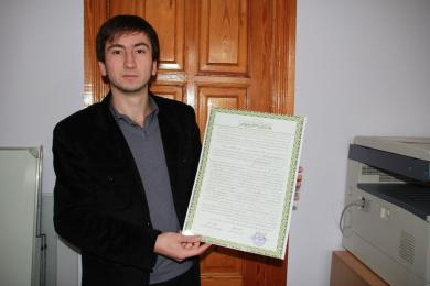 """A Crimean Young Man Received """"Ijazah"""" For The First Time In A Century"""