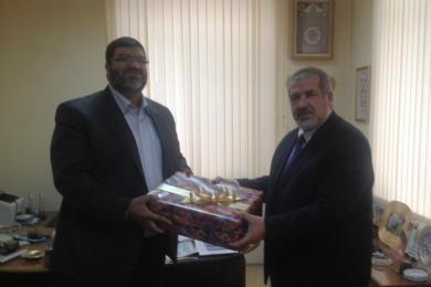 """د. باسل مرعي لتشوباروف: """"الرائد"""" شريك للمجلس في خدمة ودعم تتار القرم المسلمين"""
