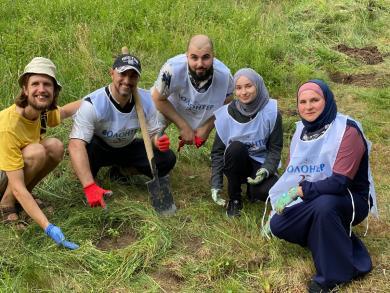 Волонтеры столичного ИКЦ заложили сквер на Житомирщине и планируют посадить также фруктовый сад
