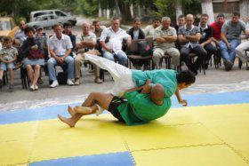 В Крыму в день праздника определили победителей турнира по борьбе куреш