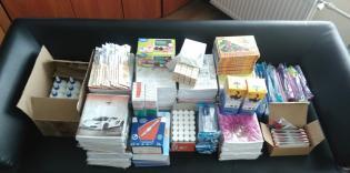 Придбано понад 55 кг канцтоварів для школярів із незаможних родин!