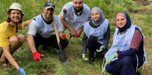 Kyiv ICC Volunteers Laid Out a Public Garden in Zhytomyr Region, and Planning to Plant an Orchid